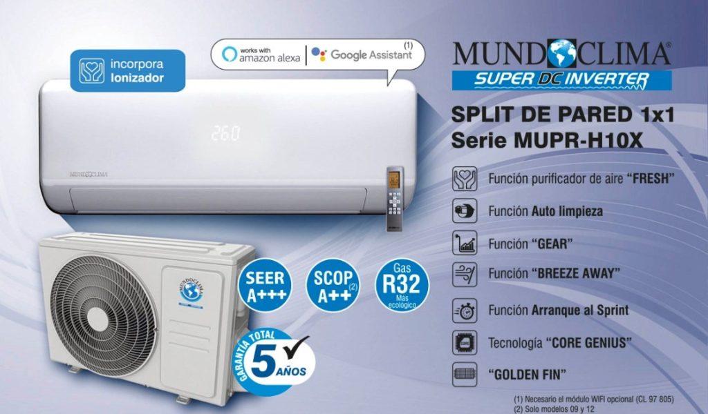 Aire acondicionado Mundoclima serie MUPR.H10X