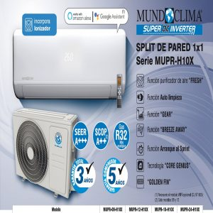 Aire acondicionado MUNDOCLIMA serie MUPR-H10X
